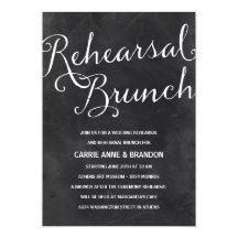 Elegant Chalkboard | Rustic Chic Rehearsal Brunch 5x7 Paper Invitation Card