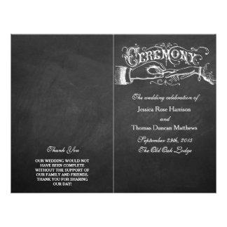 Elegant Chalkboard Wedding Ceremony Programs 21.5 Cm X 28 Cm Flyer
