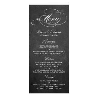 Elegant Chalkboard Wedding Menu Templates Full Colour Rack Card