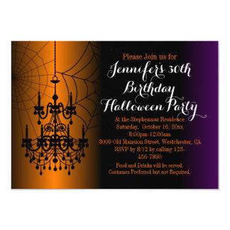Adult Halloween Birthday Cards Invitations Zazzlecouk - Halloween birthday invitations uk
