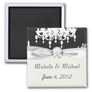 elegant chandelier black white damask magnet