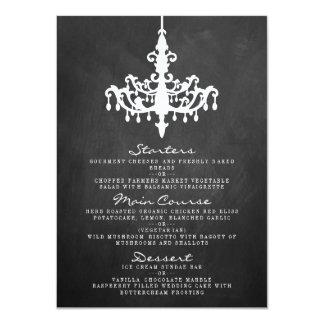 Elegant Chandelier Chalkboard Wedding Collection 11 Cm X 16 Cm Invitation Card