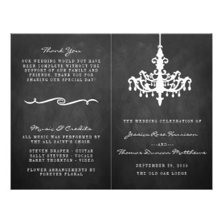 Elegant Chandelier Chalkboard Wedding Collection 21.5 Cm X 28 Cm Flyer
