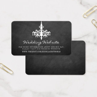 Elegant Chandelier Chalkboard Wedding Collection Business Card