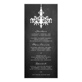 Elegant Chandelier Chalkboard Wedding Collection Rack Card Design