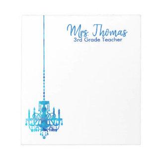 Elegant Chandelier Notepad (Blue)