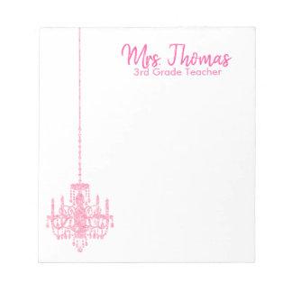 Elegant Chandelier Notepad (Pink)