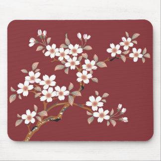 Elegant Cherry Blossom Floral Mousemat Mousepads