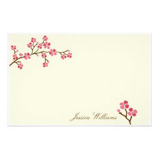 Elegant Cherry Blossom Stationery