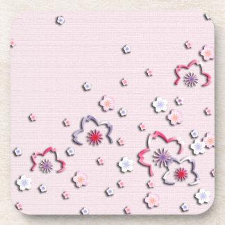 Elegant cherry blossoms coaster