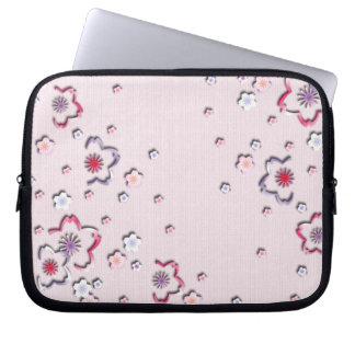 Elegant cherry blossoms laptop computer sleeves