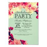Elegant Cherry Blossoms on Rustic Teal 9 Cm X 13 Cm Invitation Card