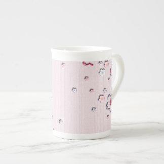 Elegant cherry blossoms tea cup