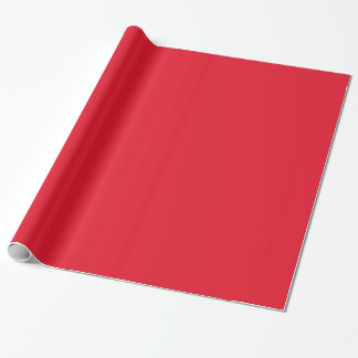 Elegant Cherry Red. Solid Fashion Colour Trends Wrapping Paper