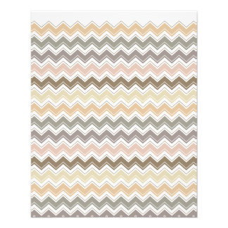 Elegant Chevron Designer's Earth Tone Pattern 11.5 Cm X 14 Cm Flyer