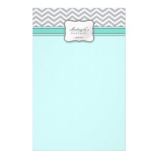 Elegant Chevron Modern Gray, white and Blue Flyer
