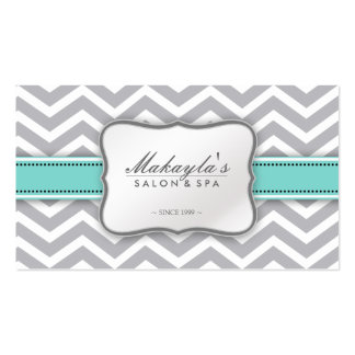 Elegant Chevron Modern Gray, white and Blue Pack Of Standard Business Cards