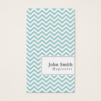 Elegant Chevron Stripes Hygienist Business Card