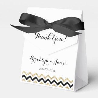Elegant Chevron Wedding Favor Boxes Tent Favour Box