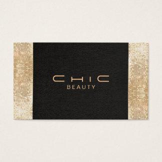 Elegant Chic Black Faux Gold Sequin Beauty