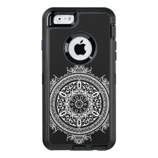 Elegant chic boho stylish floral pattern OtterBox defender iPhone case