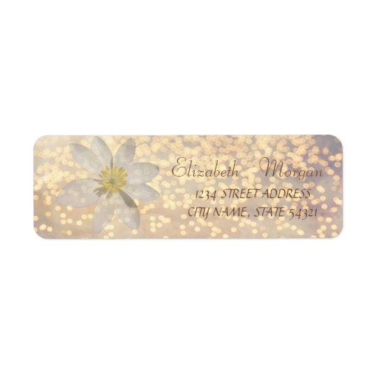Elegant Chic  Bokeh ,Daisy ,Address Label Return Address Label