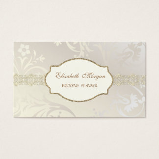 Elegant Chic Charming ,Gold Lace Business Card