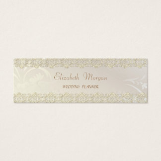 Elegant Chic Charming ,Gold Lace Mini Business Card