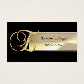 Elegant Chic Charming Sophisticated-Monogram Business Card