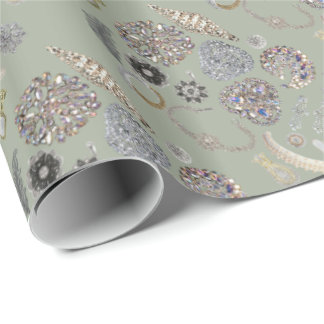 Elegant Chic Chiny Glossy Wrapping Paper
