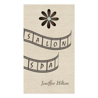 Elegant chic contemporary floral filmstrip salon business card template