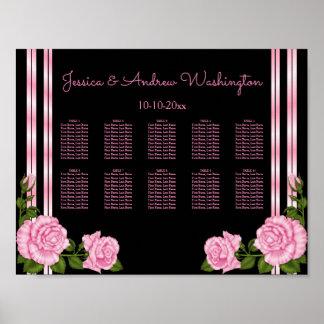 Elegant Chic Corner Rose Bouquet Seating Chart