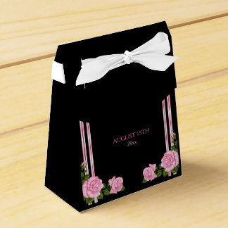 Elegant Chic Corner Rose Bouquet Wedding Wedding Favour Box