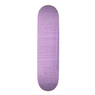 Elegant chic cute triangle lavender white pattern skate decks