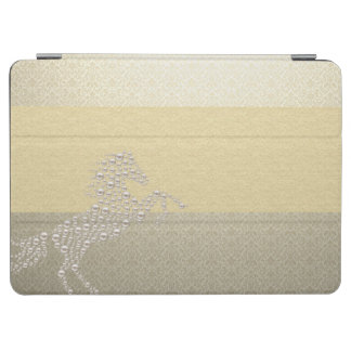 Elegant Chic Damask Horse Pearls iPad Air Cover