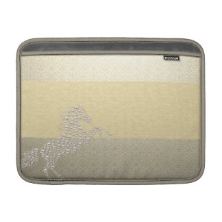 Elegant Chic Damask Horse Pearls MacBook Sleeve