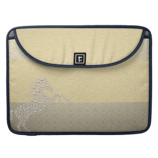 Elegant Chic Damask Horse Pearls Sleeve For MacBook Pro