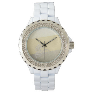 Elegant Chic Damask Horse Pearls Watch