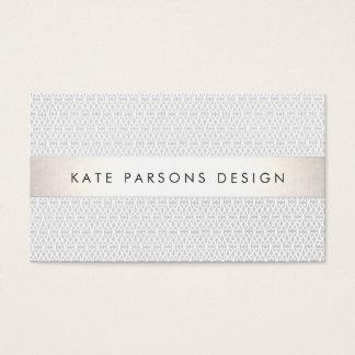 Elegant Chic Designer Silver Striped Pattern