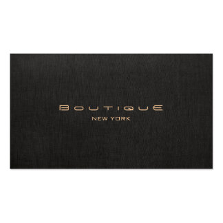 Elegant Chic Faux Black Linen Professional Pack Of Standard Business Cards