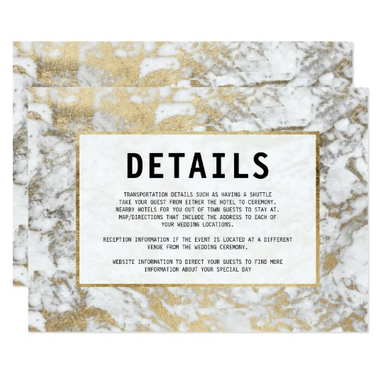Elegant chic faux gold white modern marble Details