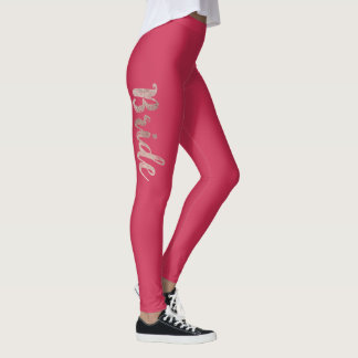 Elegant Chic Faux Rose Gold and Pink Bride Leggings