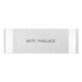 Elegant Chic Faux Satin Gold Striped & Gray Linen Pack Of Skinny Business Cards