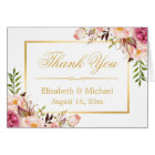 Elegant Chic Floral Gold Frame Thank You
