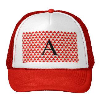 Elegant chic girly chic triangle red white pattern trucker hat