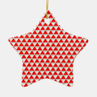 Elegant chic girly chic triangle red white pattern ornaments