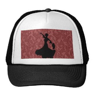 Elegant chic  girly damask flamenco dancer cap