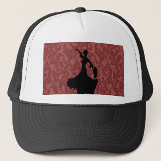 Elegant chic  girly damask flamenco dancer trucker hat