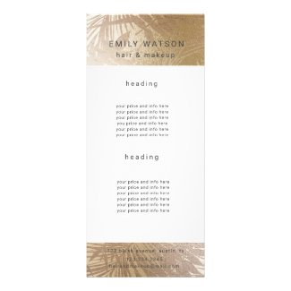 Elegant Chic Gold Faux Foil Trendy Price Rack Card