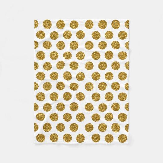 Elegant Chic Gold Polka Dots Glitter Photo Print